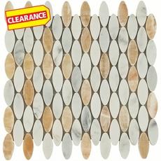 Clearance! Soho Ellipse Light Mix Marble Mosaic