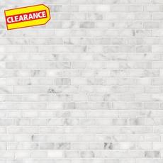Clearance! Bianco Carrara Brick Marble Mosaic