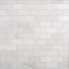 Carrara White Honed Marble Tile