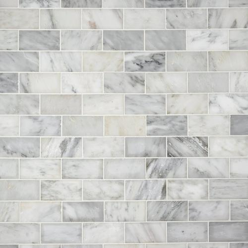 Carrara White Polished Marble Tile 3 X 6 931100290 Floor And Decor