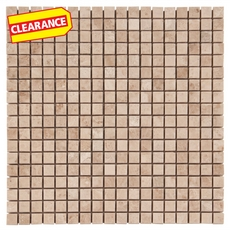 Clearance! Cappuccino Beige Marble Mosaic