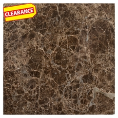 Clearance! Dark Emperador Polished Marble Wall Tile