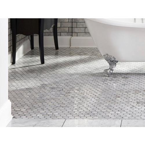 Bianco Carrara Hexagon Polished Marble Mosaic 12 X 12
