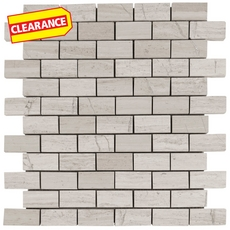 Clearance! Valentino White Brick Marble Mosaic