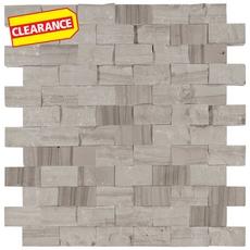 Clearance! Valentino Gray Mixed Brick Marble Mosaic