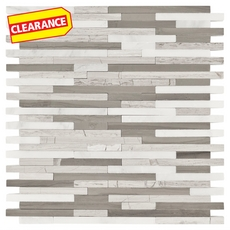 Clearance! Valentino Light Mixed Linear Marble Mosaic