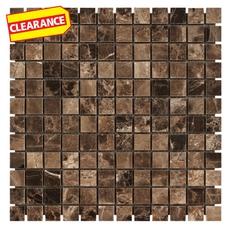 Clearance! Dark Emperador Marble Mosaic