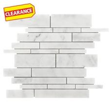 Clearance! Carrara Milano Linear Marble Mosaic
