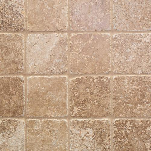 Noce Tumbled Travertine Tile 4 X 4 932100267 Floor And Decor