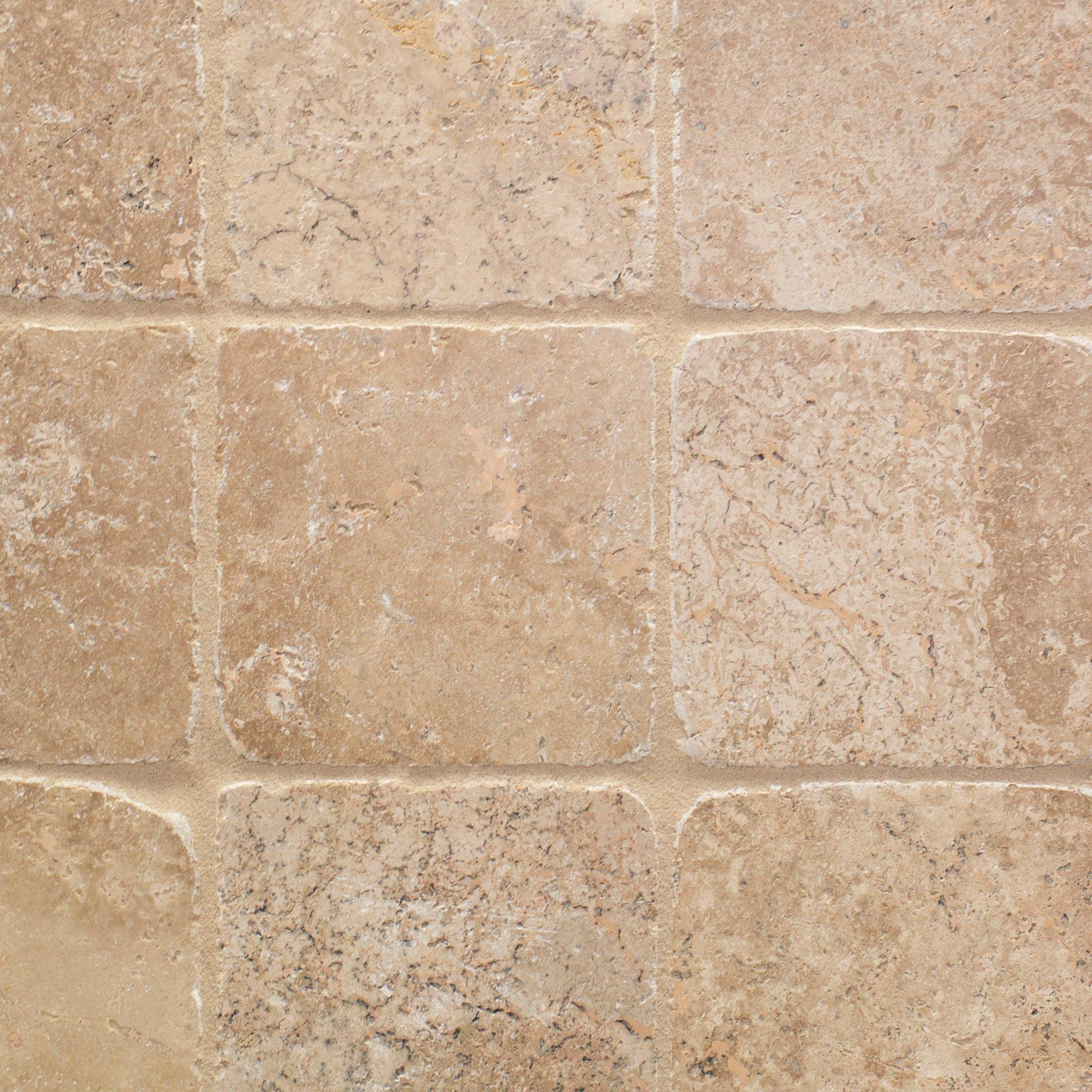 - Noce Tumbled Travertine Tile - 6 X 6 - 932100268 Floor And Decor