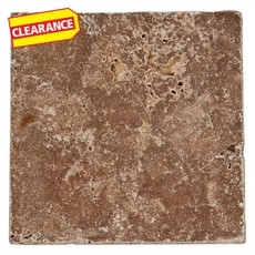Clearance! Noce Tumbled Travertine Tile