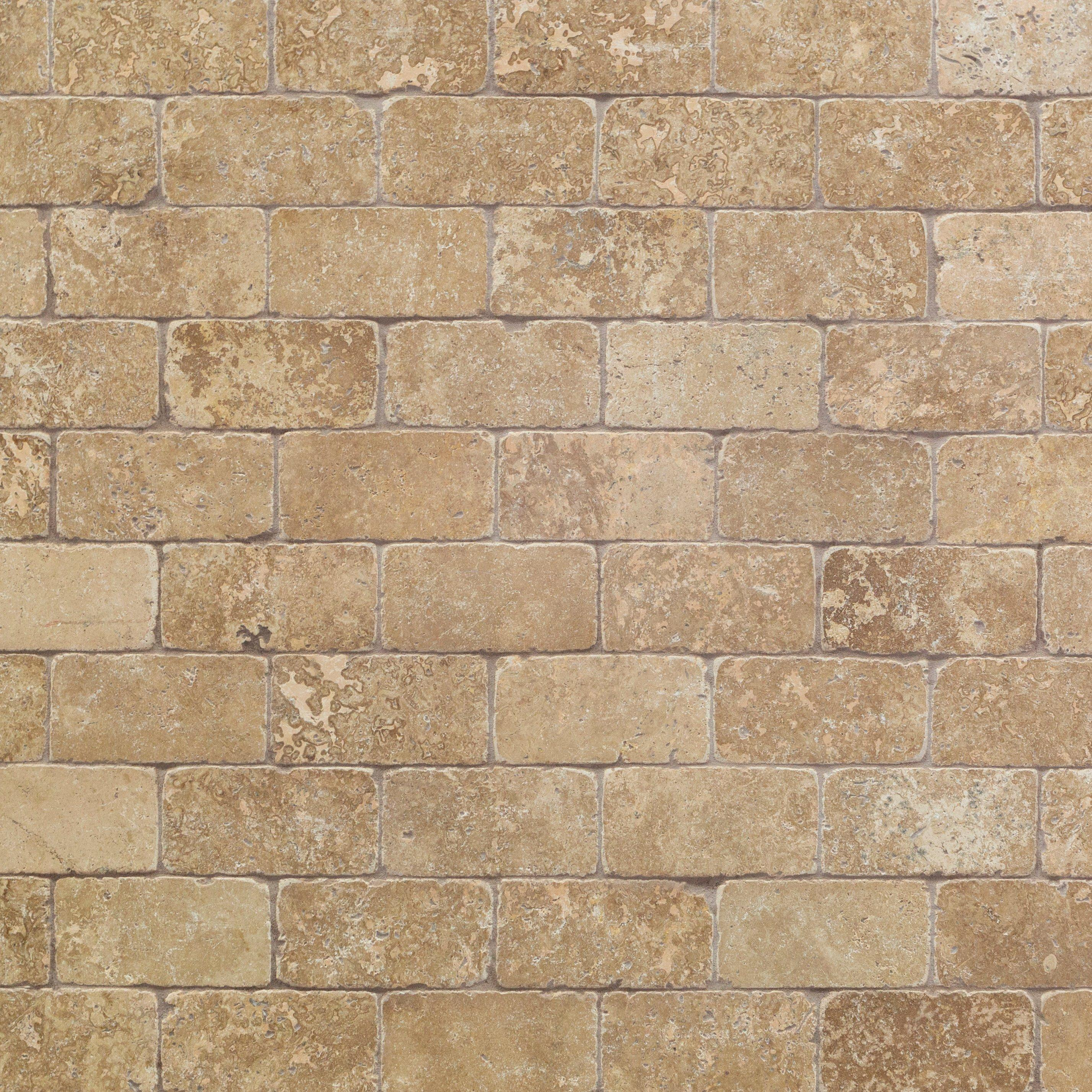 - Noce Tumbled Travertine Tile - 3 X 6 - 932100270 Floor And Decor