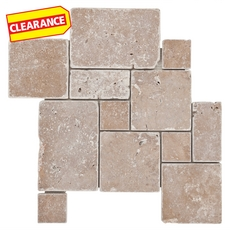 Clearance! Limnos Mini Roman Pattern Travertine Mosaic