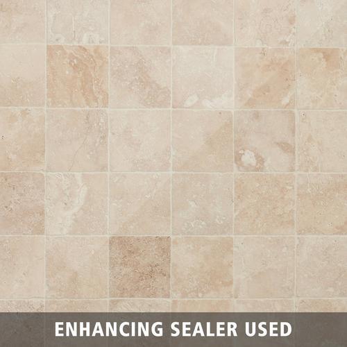 Crema Antiqua Tumbled Travertine Tile - 4in. x 4in. - 932100540 | Floor and  Decor