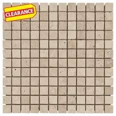 Clearance! Crema Antiqua Tumbled Travertine Mosaic
