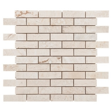 Cote D Azur Brushed Brick Travertine Mosaic