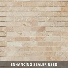 Savona Ivory Brushed Brick Travertine Mosaic