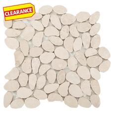 Clearance! Durango Pebble Travertine Mosaic