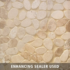 Acapulco Pebble Travertine Mosaic