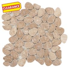 Clearance! Caramelo Pebble Travertine Mosaic