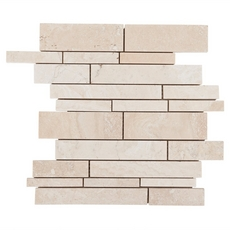 Cote D Azur Brushed Travertine Mosaic