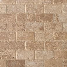 Noce Brick Travertine Mosaic