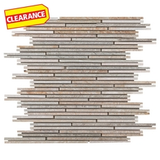 Clearance! Andes Strand Linear Slate Mosaic