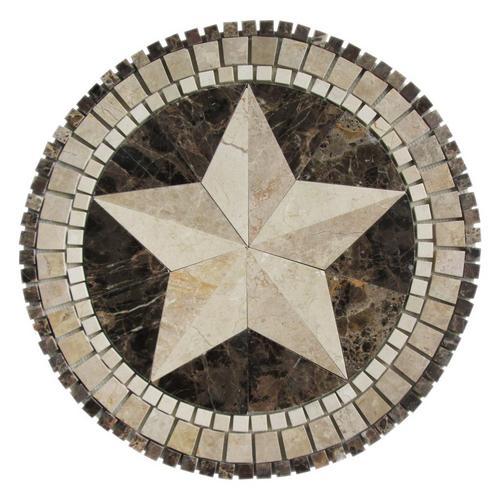 Texas Star Marble Medallion 24 X 24 935400178 Floor