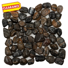 Clearance! Tiger Round Pebble Stone Mosaic