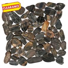 Clearance! Tiger Flat Pebble Stone Mosaic