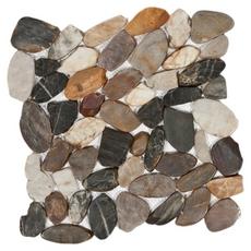Multi Flat Pebble Stone Mosaic