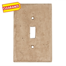 Clearance! Light Beige Decorative Resin Single Toggle Switch Plate