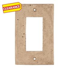 Clearance! Light Beige Decorative Resin Single Rocker Switch Plate