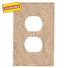 Clearance! Light Beige Decorative Resin Outlet Plate