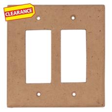 Clearance! Light Beige Decorative Resin Double Rocker Switch Plate