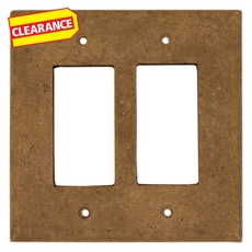 Clearance! Noce Decorative Resin Double Rocker Switch Plate