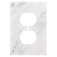 Carrara White Marble Outlet Plate