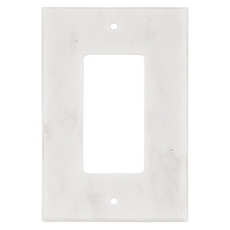 Carrara White Marble Single Rocker Switch Plate