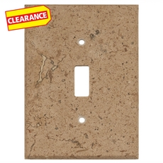 Clearance! Noce Travertine Single Toggle Switch Plate