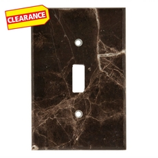 Clearance! Dark Emperador Marble Single Toggle Switch Plate