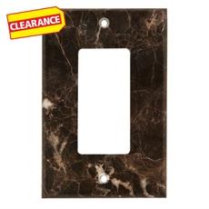 Clearance! Dark Emperador Marble Single Rocker Switch Wall