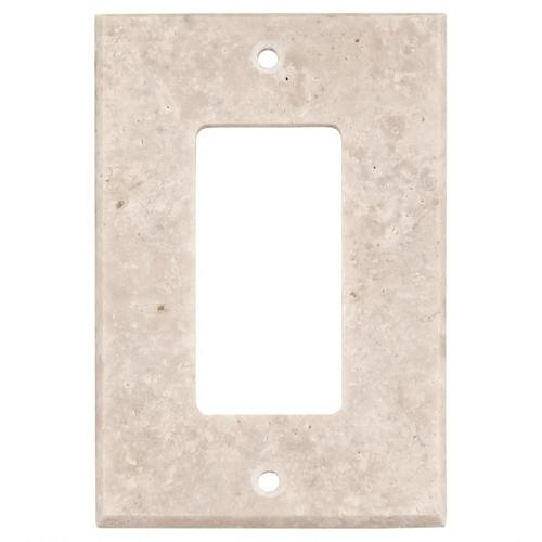 Crema Marfil Marble Single Rocker Switch Plate 3 X 5 935800023