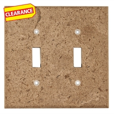 Clearance! Noce Travertine Double Toggle Switch Plate