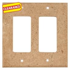 Clearance! Noce Travertine Double Rocker Switch Plate