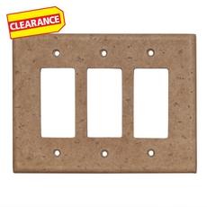 Clearance! Light Beige Decorative Resin Triple Rocker Switch Plate