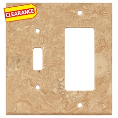 Clearance! Light Beige Travertine Combination Switch Plate