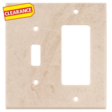 Clearance! Crema Marfil Marble Combination Switch Plate