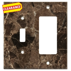 Clearance! Dark Emperador Marble Combination Switch Plate