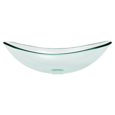 Oval Glass Vessel Sink