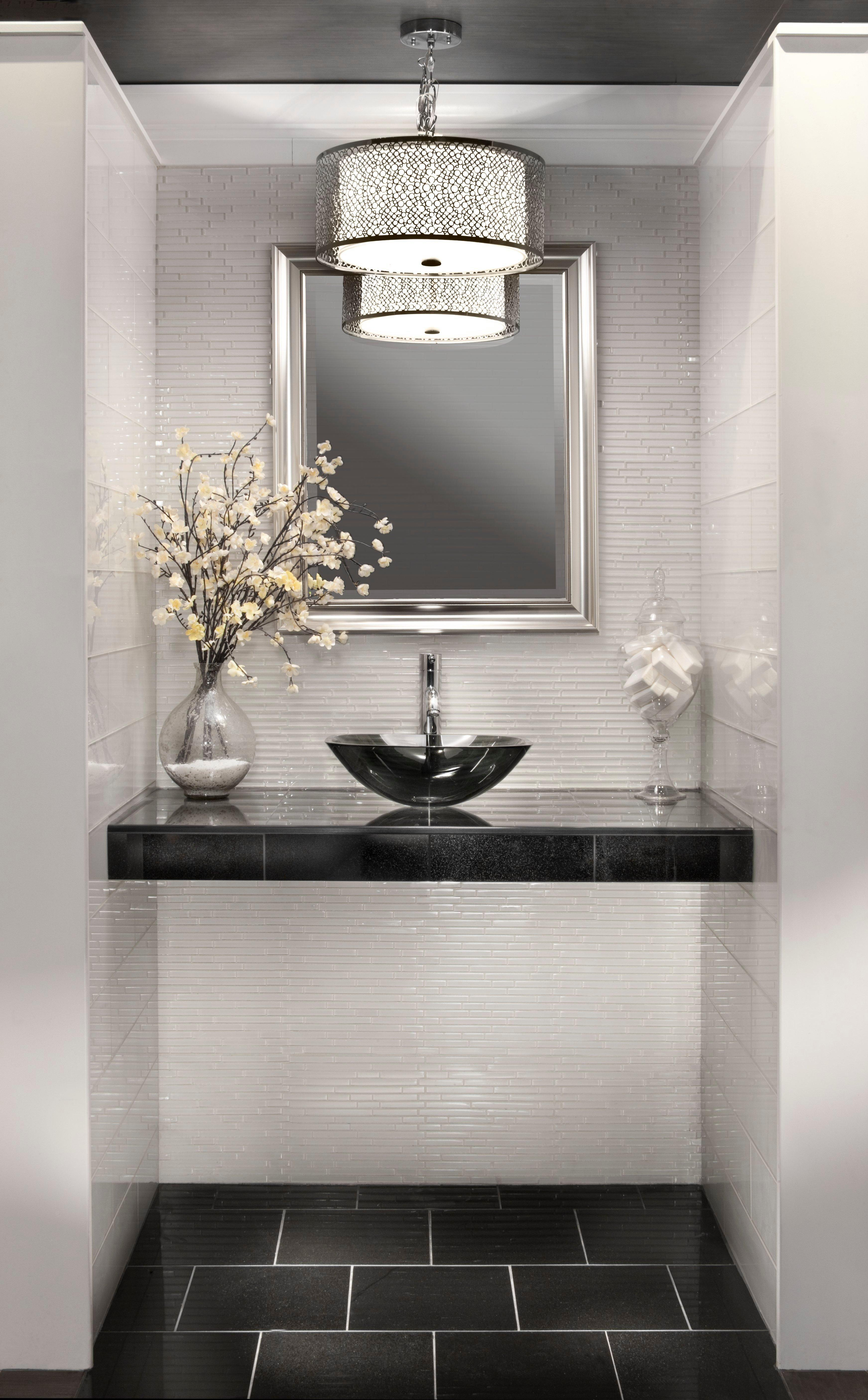 Square Black Glass Vessel Sink